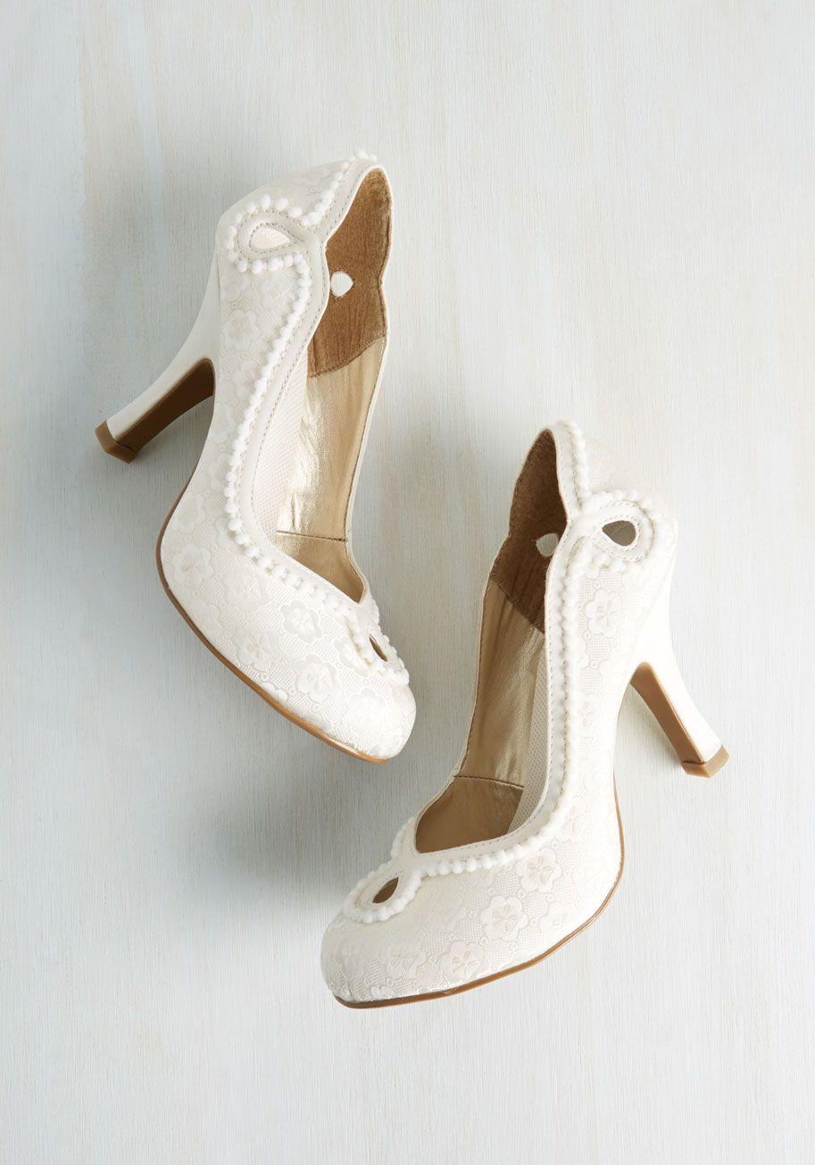8b39f67505c Skip to My Luminous Heel in Ivory - Cream
