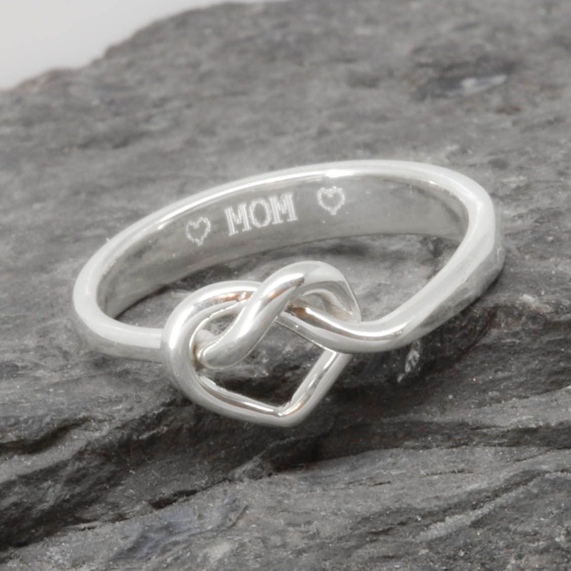 Knot Mother Daughter Personalized Maid of honor Gift Bridesmaid Gift Promise Friendship Infinity Ring Best friend Sisters Ring