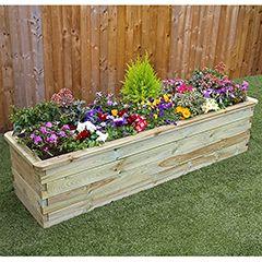 Zest 4 Leisure Wooden Raised Bed Planter W180 X D45 X H45cm