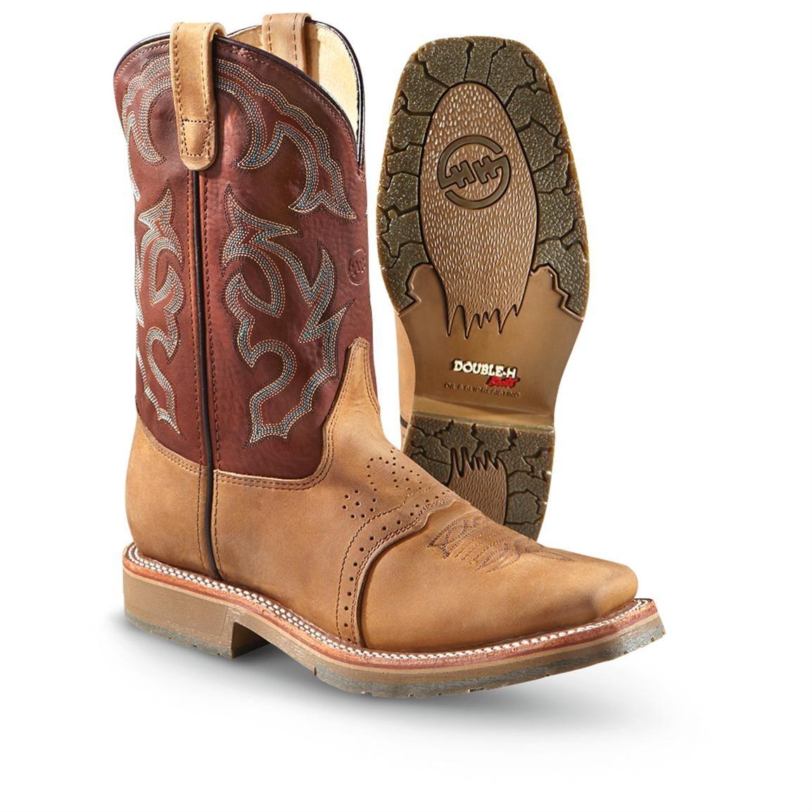 bb6c4e1d58c Men's Double-H Boots® Wildcat Western Work Boots, Chocolate | MATTS ...