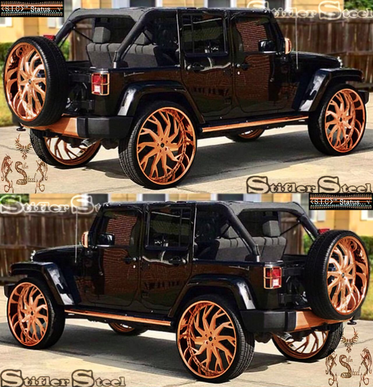 Jeep Rose Gold Finish Illustration Dream Cars Jeep Jeep Cars Donk Cars