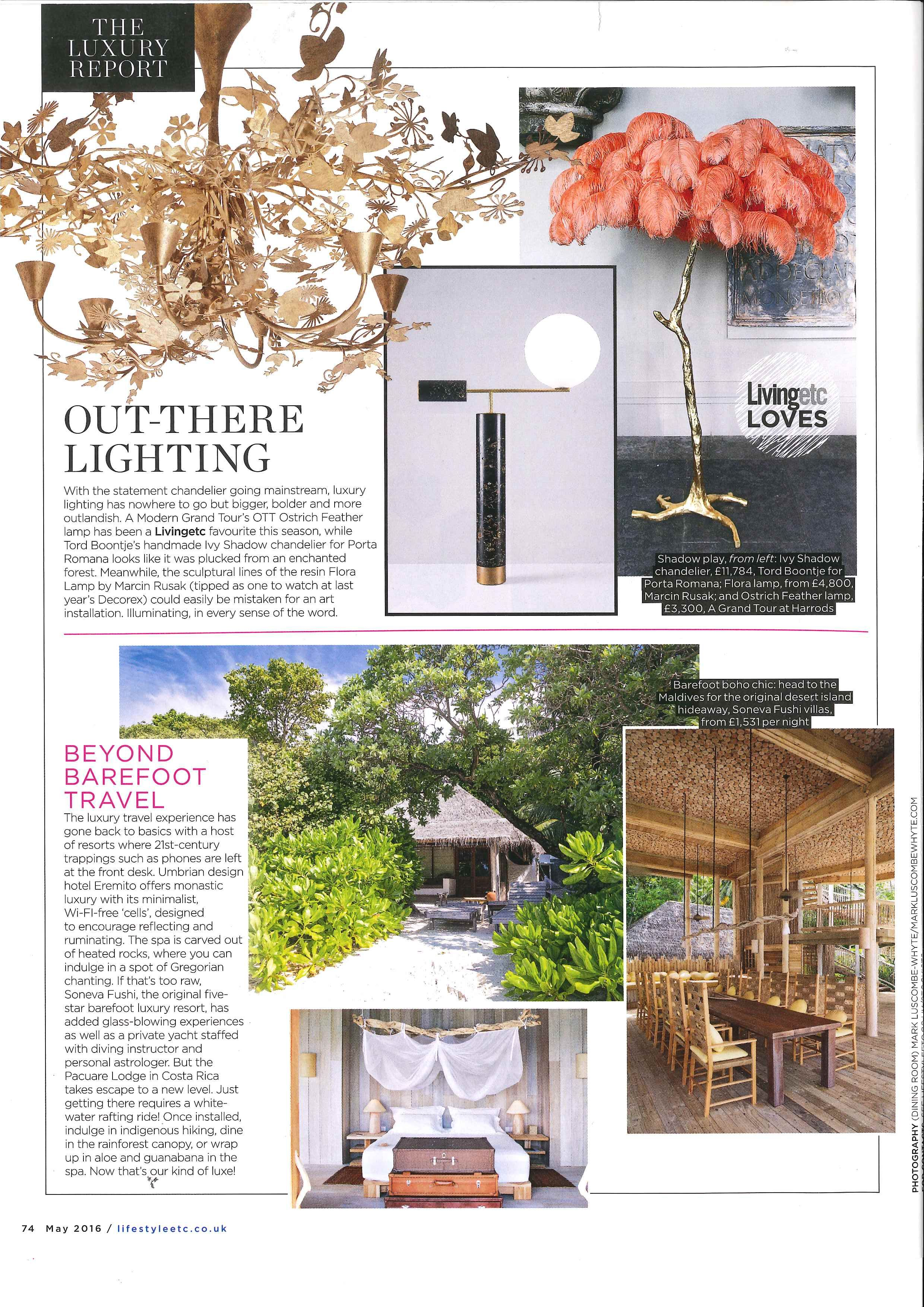 Ivy Shadow Chandelier By Porta Romana In Living Etc May 2016