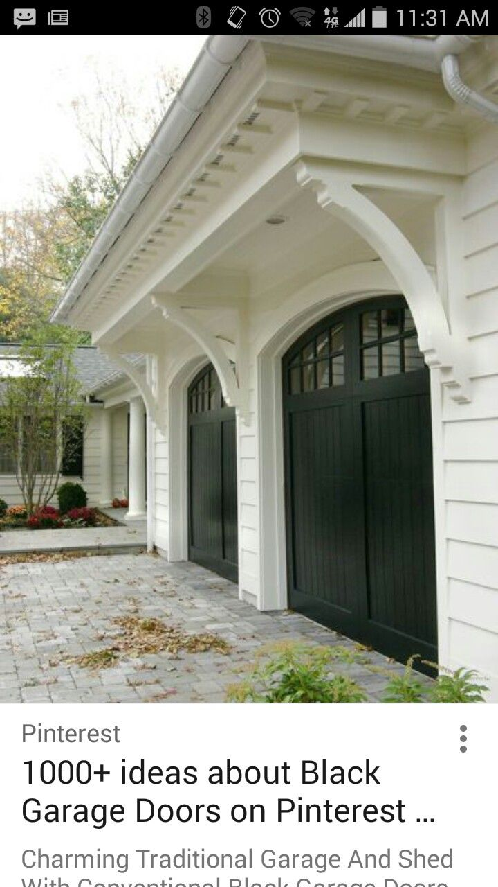 Gragae add on front of house pinterest exterior garage doors and house for Exterior garage doors