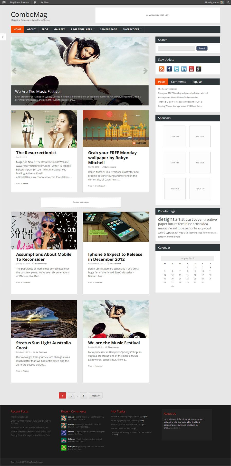 magazine website template wordpress