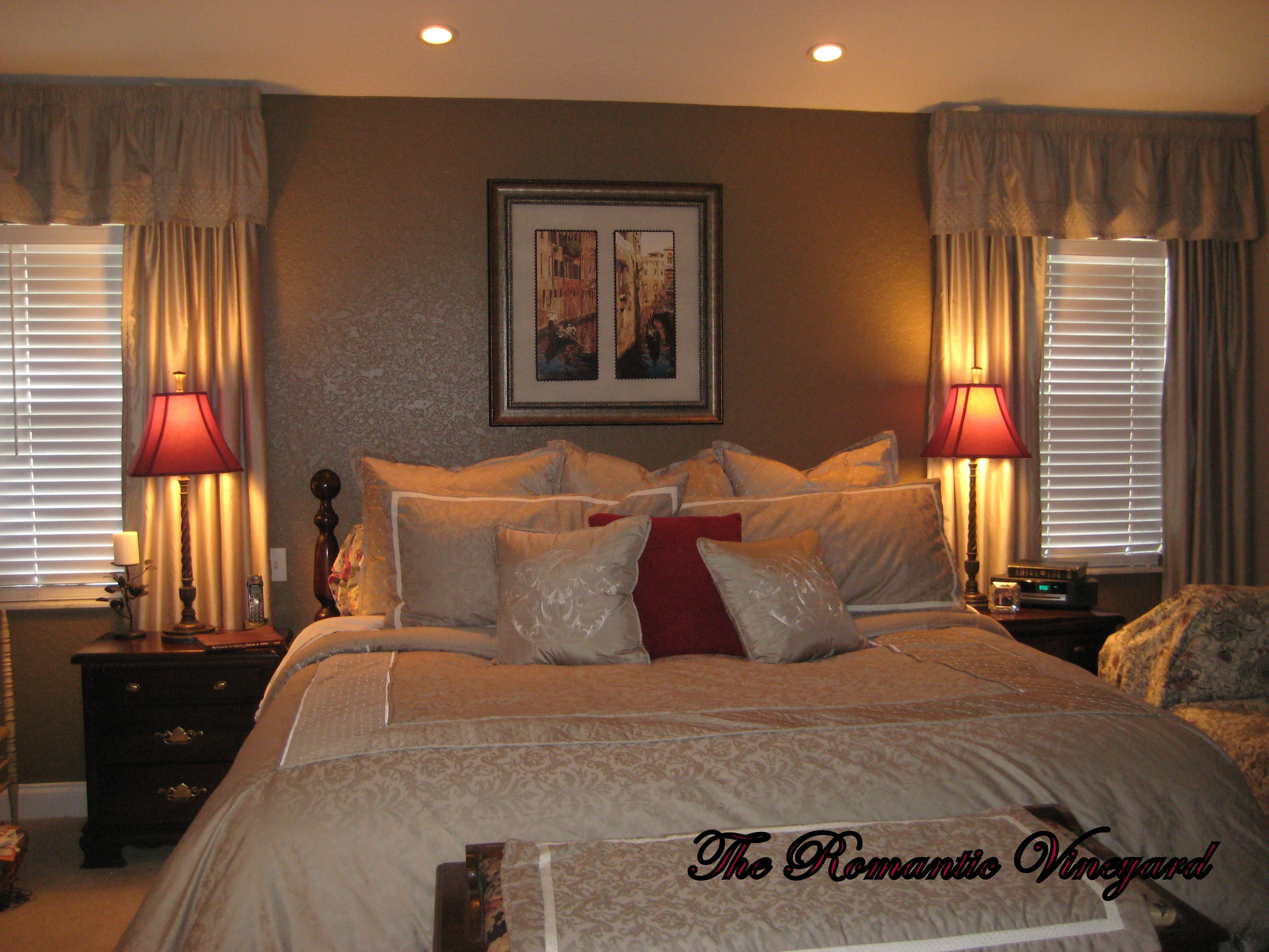 Romantic Master Bedroom Decorating Ideas fancy romantic bedroom design with large bed stand lamp and