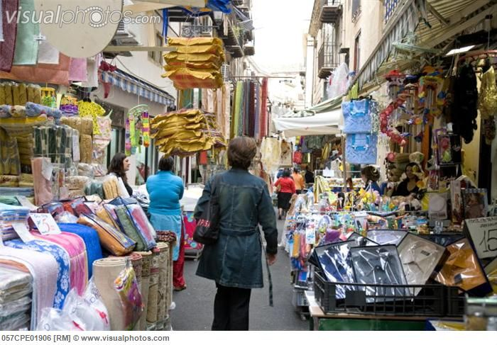 Sicily Italy -outdoor market