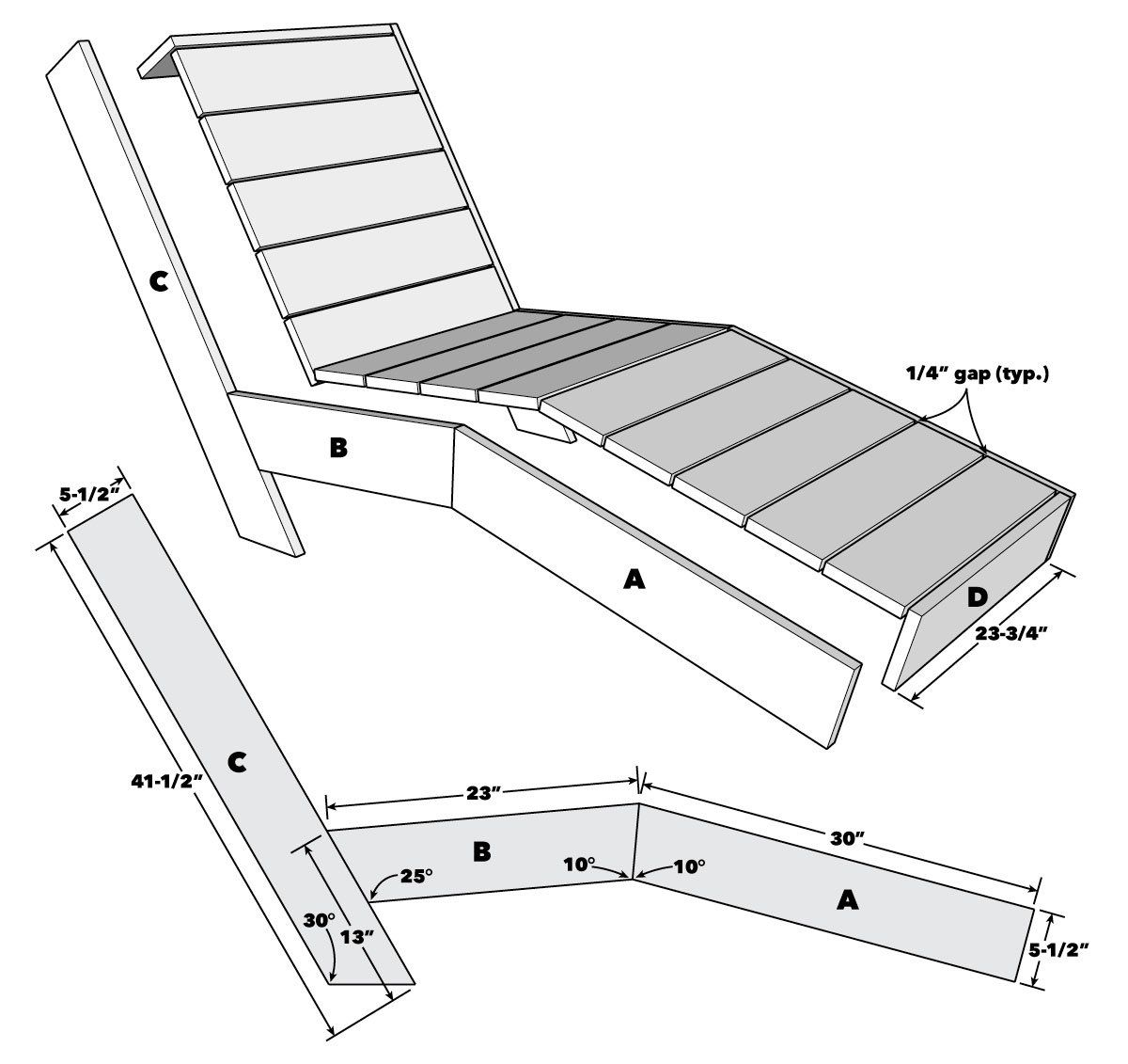 How to Build an Outdoor Chaise Lounge  Family Handyman in 10