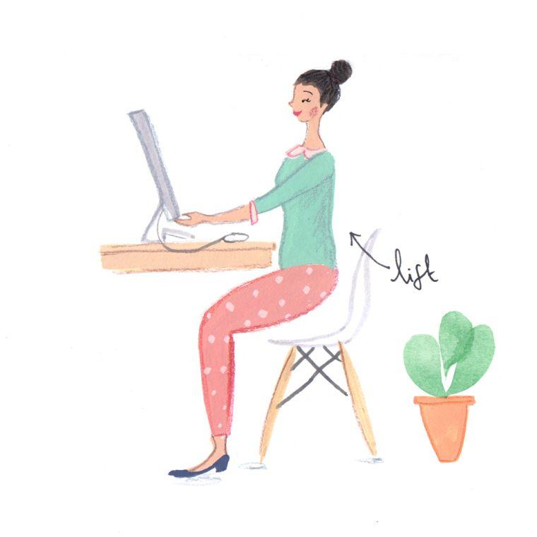 desk exercise verily illustration