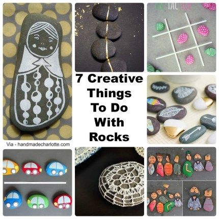 7 Creative Ways To Decorate Rocks | Rock painting, Rock and Craft