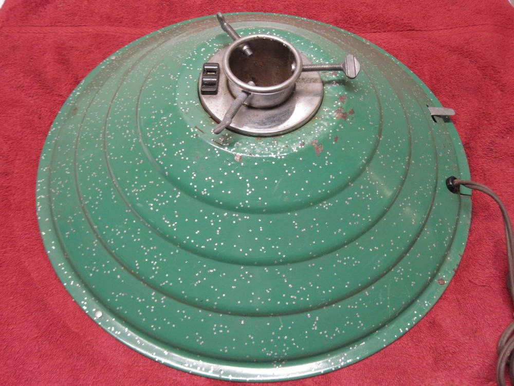 Vintage HANDY THINGS Revolving Musical Christmas GREEN Tree Stand 8' WORKS!