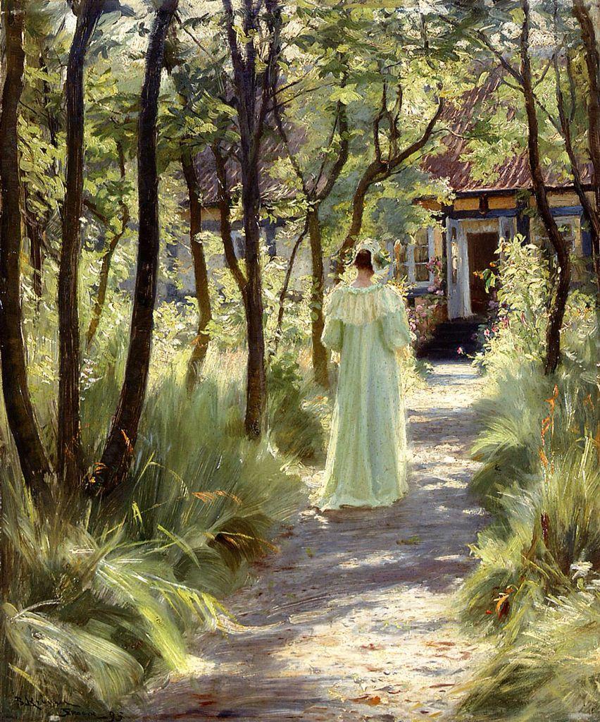 Peder Severin Krøyer - Marie in The Garden