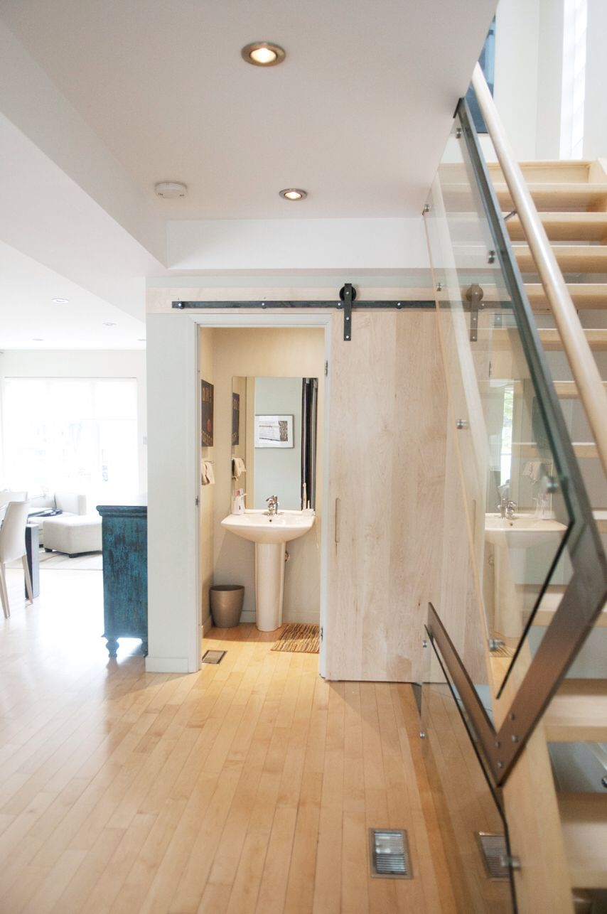Best Solid Maple Slab Barn Door To Go With Maple Hardwood 640 x 480