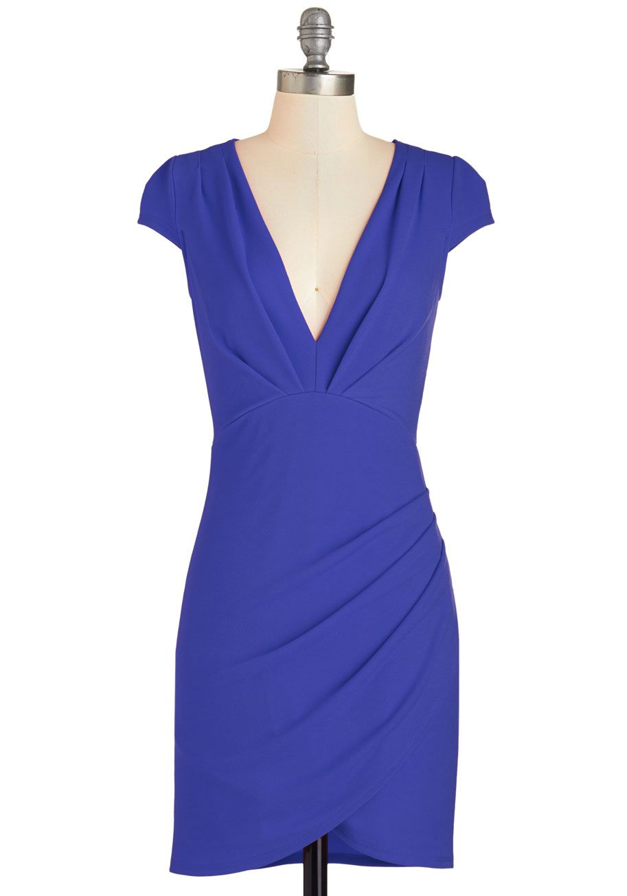 The Mingle Life Dress in Cobalt | Mod Retro Vintage Dresses ...