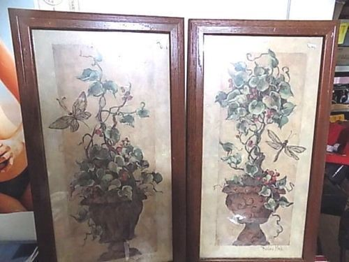 Set of 2 vintage home interiors framed pictures dragonfly 26 5 x 14 5 made usa