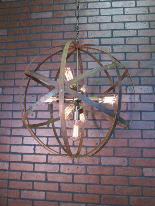 wine barrel lighting. rustic chandelier wine barrel ring light orb ceiling 24 lighting