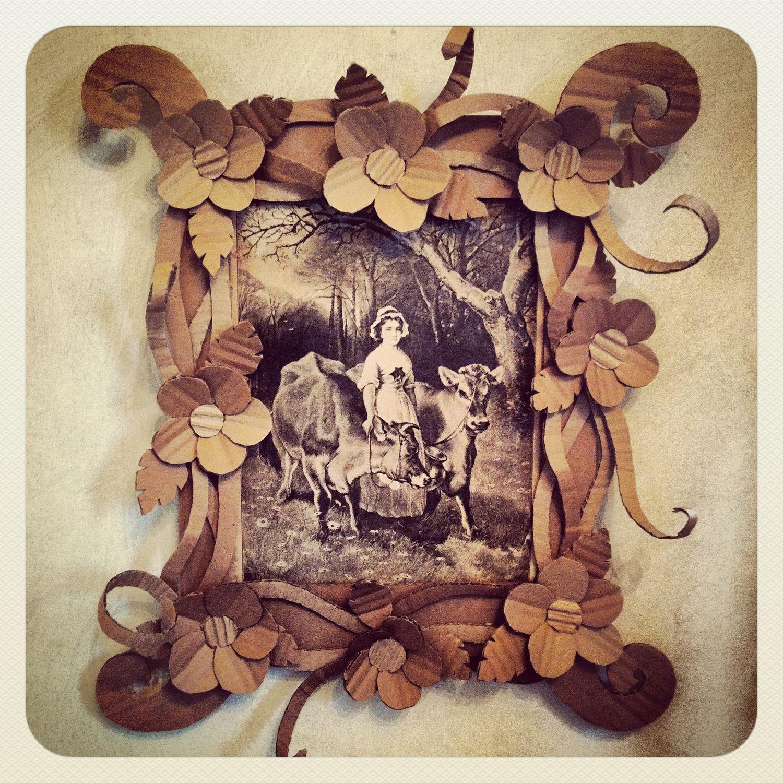 Cute cardboard picture frame Crafty crap Pinterest