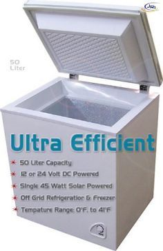 STORE: Solar FREEZERS & Solar REFRIGERATORS DC Power 12/24V Off-Grid Refrigeration by Sundanzer. 650.