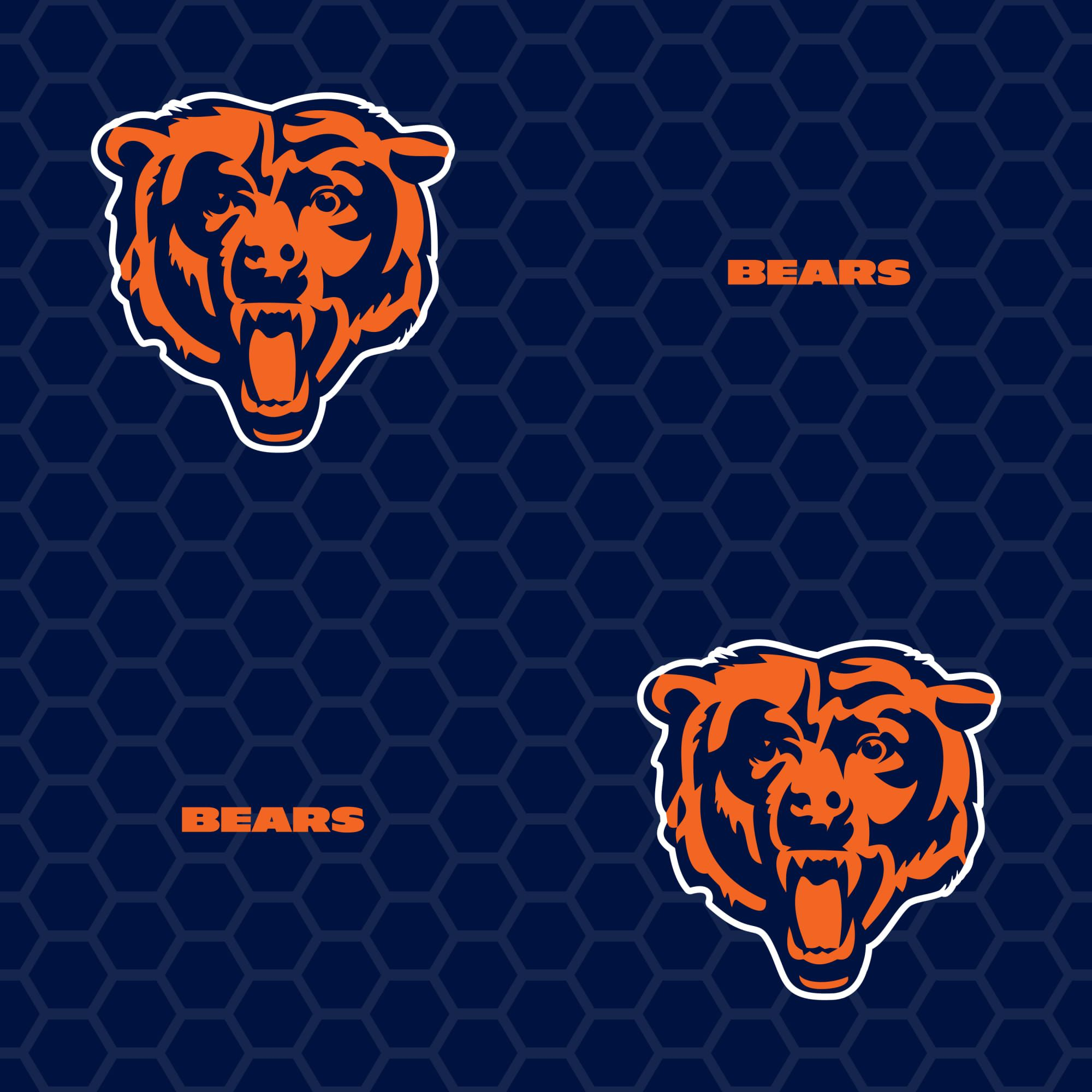 Chicago Bears Logo Pattern (Blue) Officially Licensed