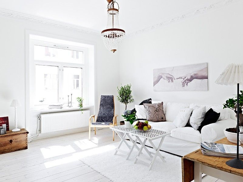 Schwedisch Innenraum Wohnzimmer