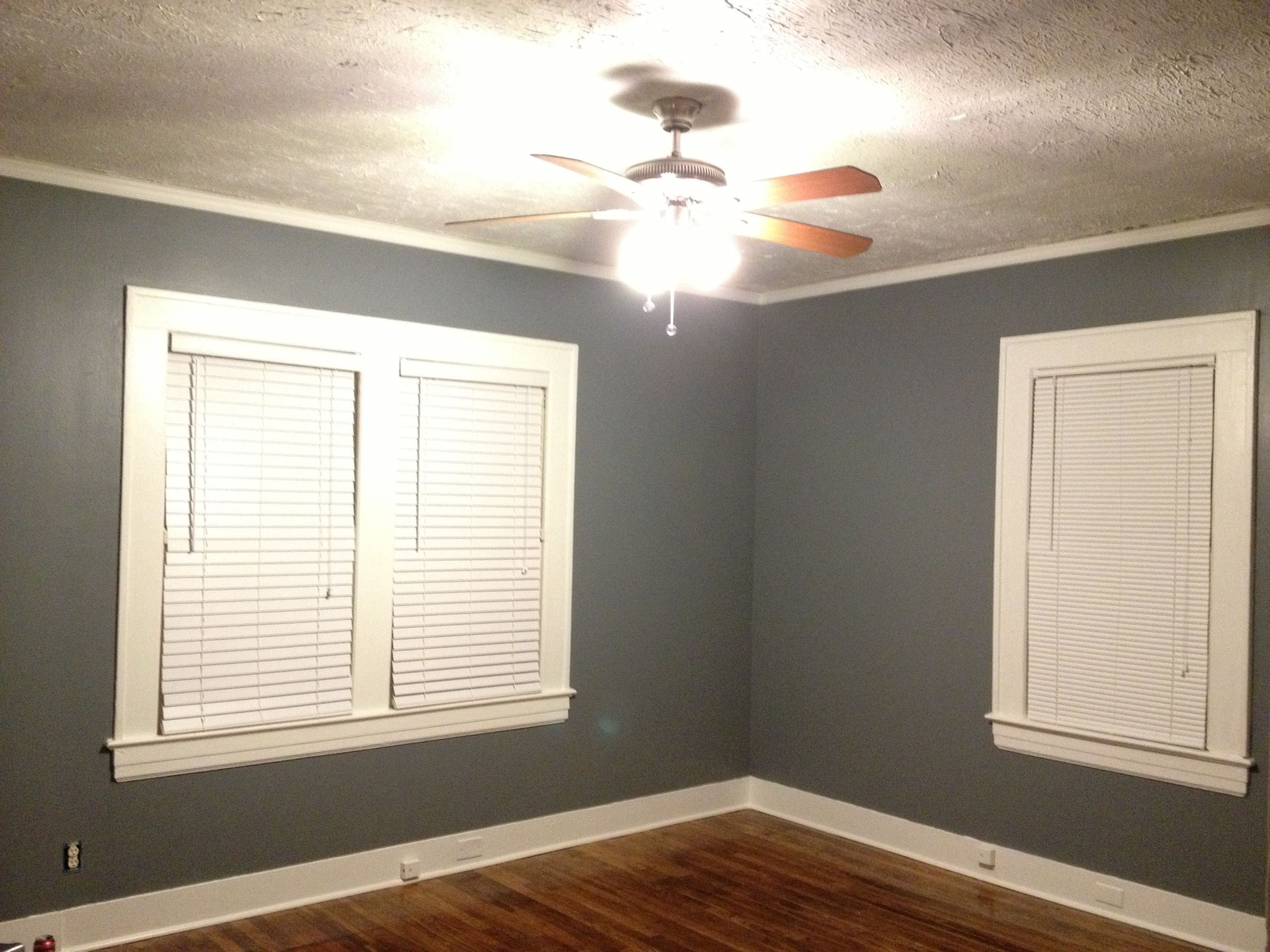 Bedroom With Serious Grey Sherwin Williams Hgtv Satin