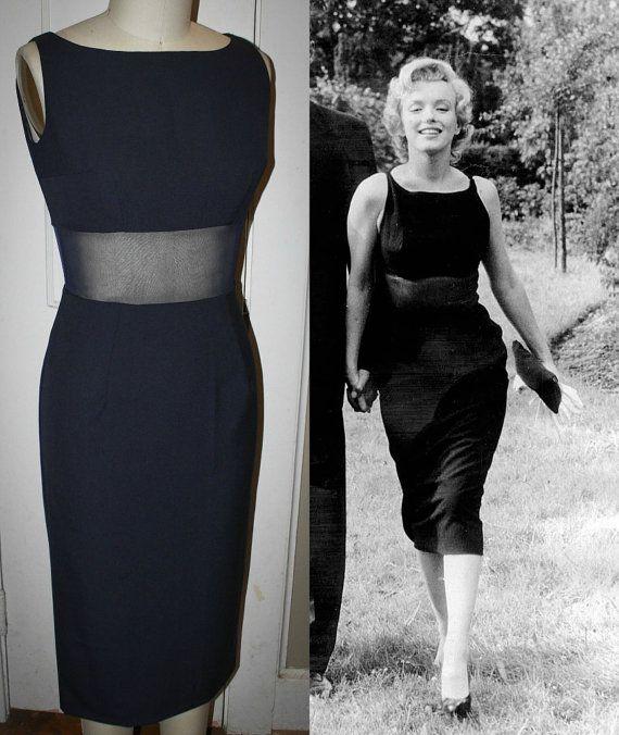 Marilyn Monroe Style Black Pinup Wiggle