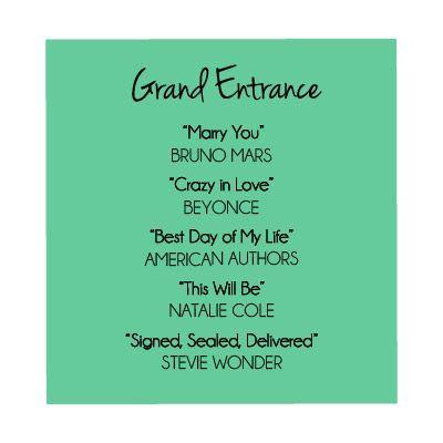 Soundtrack To Your Destination Wedding The Grand Entrance Wedding