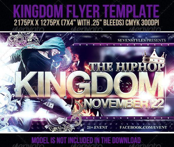 Kingdom Flyer Template Flyer template, Template and Print templates