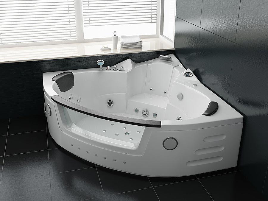 Schön Whirlpool GLORIA/LINDA   Eckbadewanne Weiß Für 2 Personen