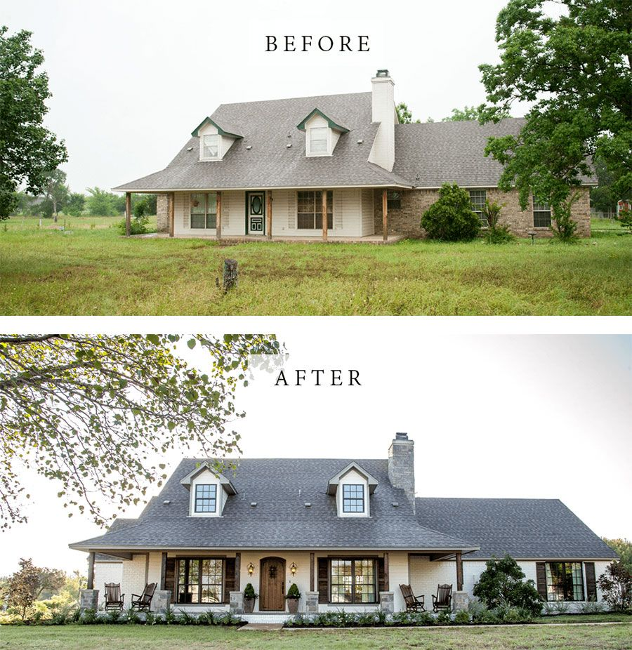 11 Best House Exterior Renovations By Joanna Gaines - Nikki's Plate