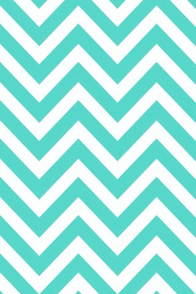 IPhone 5 Wallpaper   Turquoise Chevron