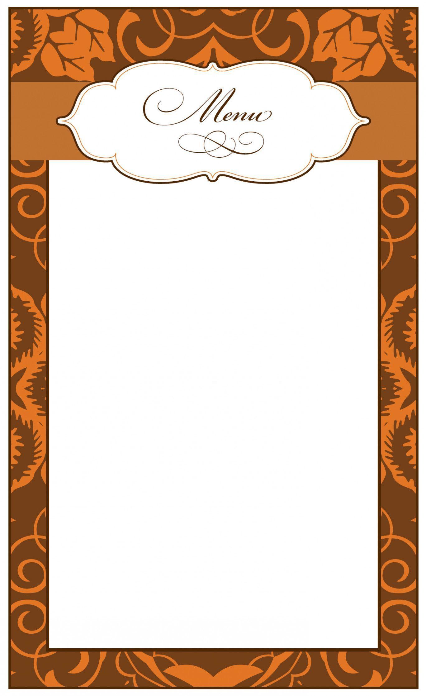 Border Menu Card Design Etiquettesnoelaimprimer