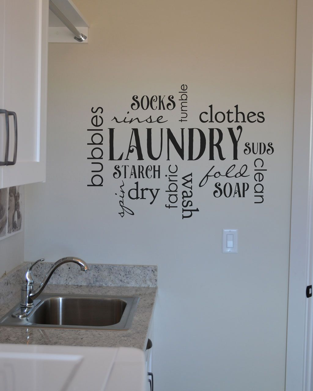 Laundry Decal Collage Of Lots Of Laundry Terms Vinyl Decal Wall Laundry Home Decor Sticker Bm644 Wall Decals Laundry Laundry Room Decals Laundry Decals