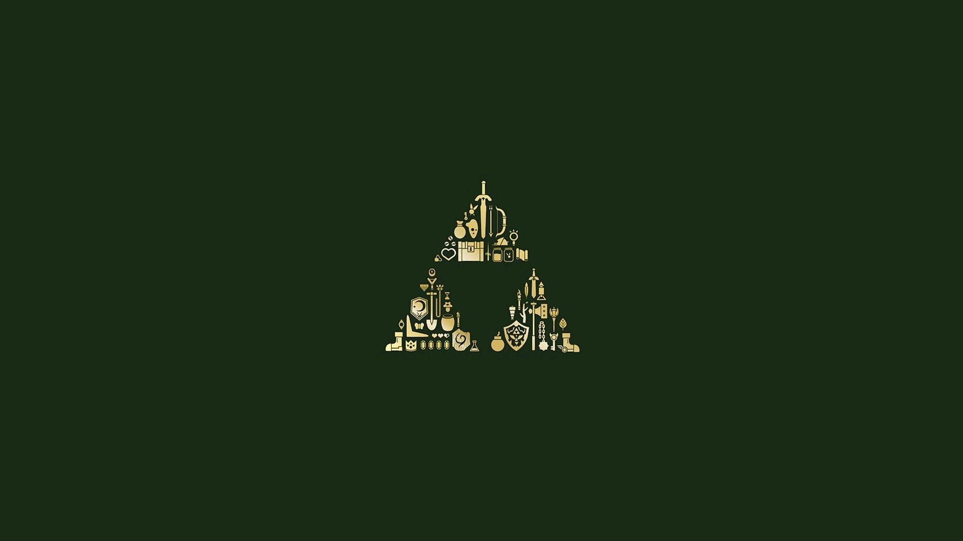 Hylian Shield Video Games Minimalism Simple Background The Legend Of Zelda Triforce Green Backgrou Legend Of Zelda Legend Of Zelda Poster Zelda Hd