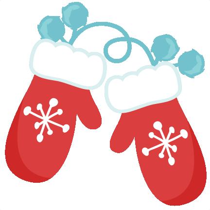 Snowflake Mittens SVG scrapbook cut file cute clipart ...