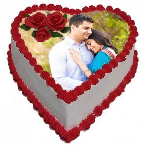 Same Day Delivery Of Heart Shape Photo Cake Way2flowers Place Your Order Here