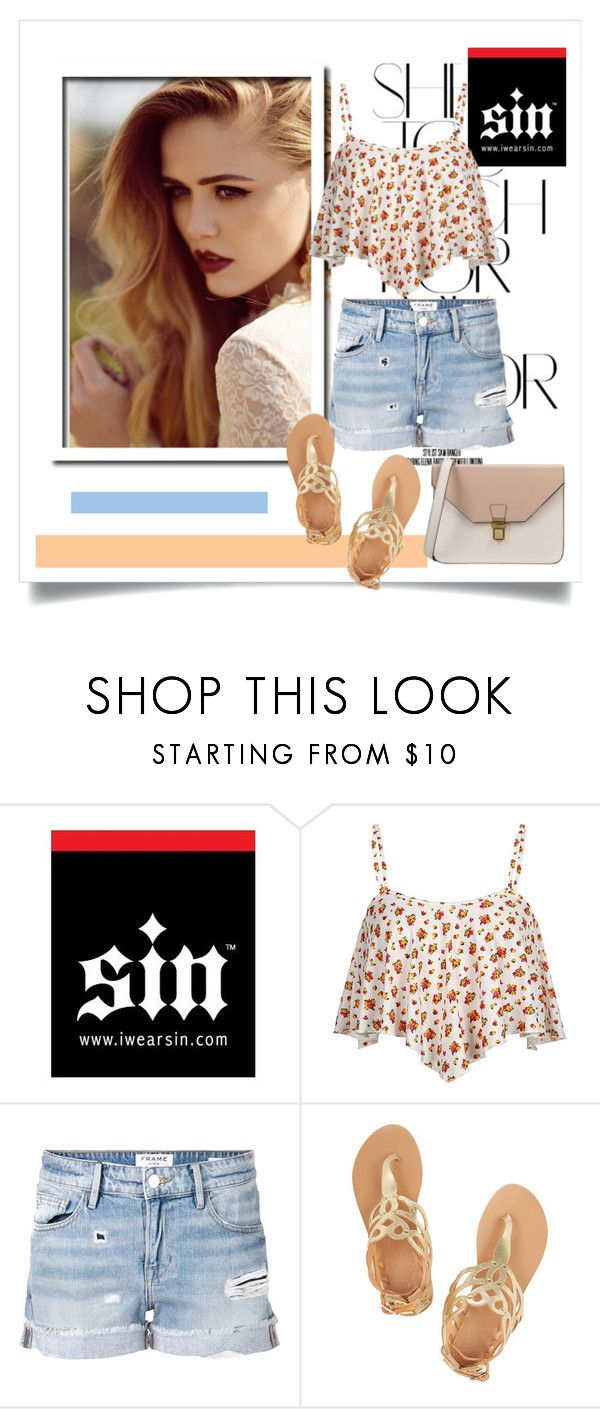 """""""iwearsin.com"""" by raisaa88 ❤ liked on Polyvore featuring Rika, Frame Denim, Ancient Greek Sandals, 8 and iWearSin"""