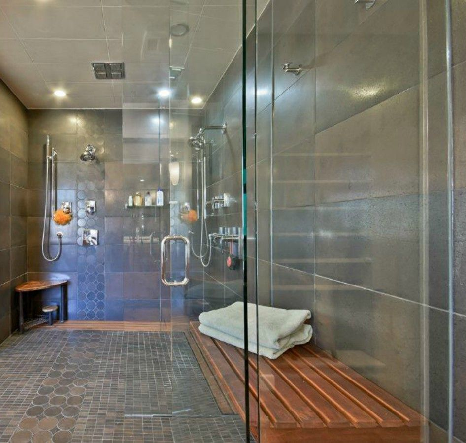 Shower with window ideas  beautiful window walkin shower with gray tiles like this wooden