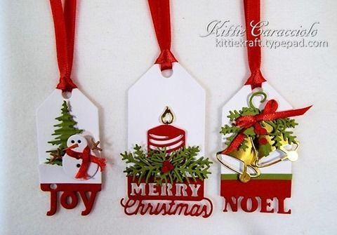 KC Impression Obsession Christmas Tags 1 side by side