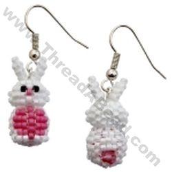 2b2b3e02d Mini 3D Beaded Rabbit Earrings Pattern Bead Pattern By ThreadABead ...