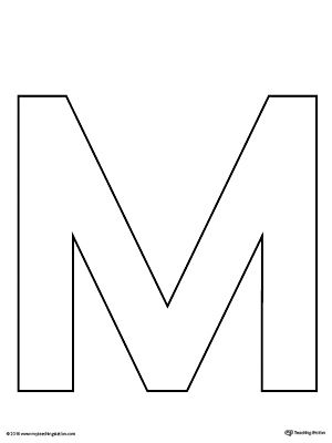 uppercase letter m template printable worksheetthe uppercase letter m template is an ultra useful all purpose letter template designed for use in a