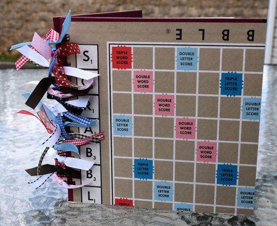 BLANK SCRAPBOOK JOURNAL Scrabble Board Game Journal Notebook