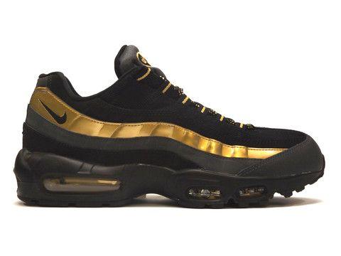 sale retailer 48ad9 a46a4 Nike Air Max 95 Premium Black   Gold  nike  sneakers  fashion  airmax