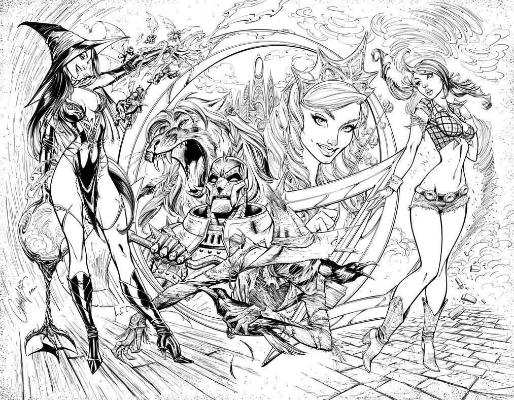 Zenescope Wizard of Oz #1 cover art. Original pencils and inks by J ...