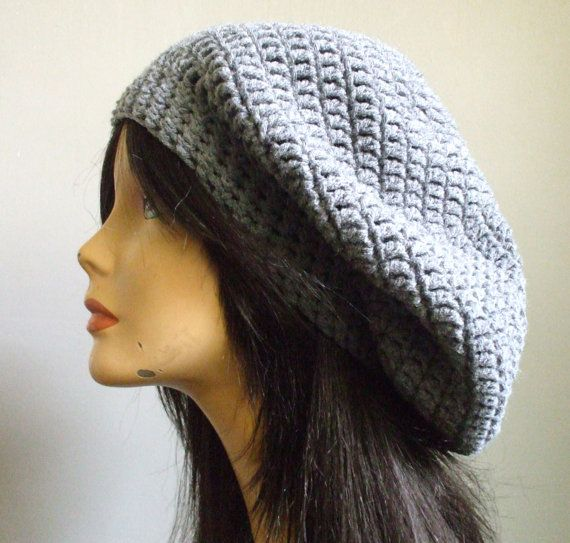 aWeSoMe Crochet Extra Slouchy Hat Beret Tam Women Men Slouchy Hat ...