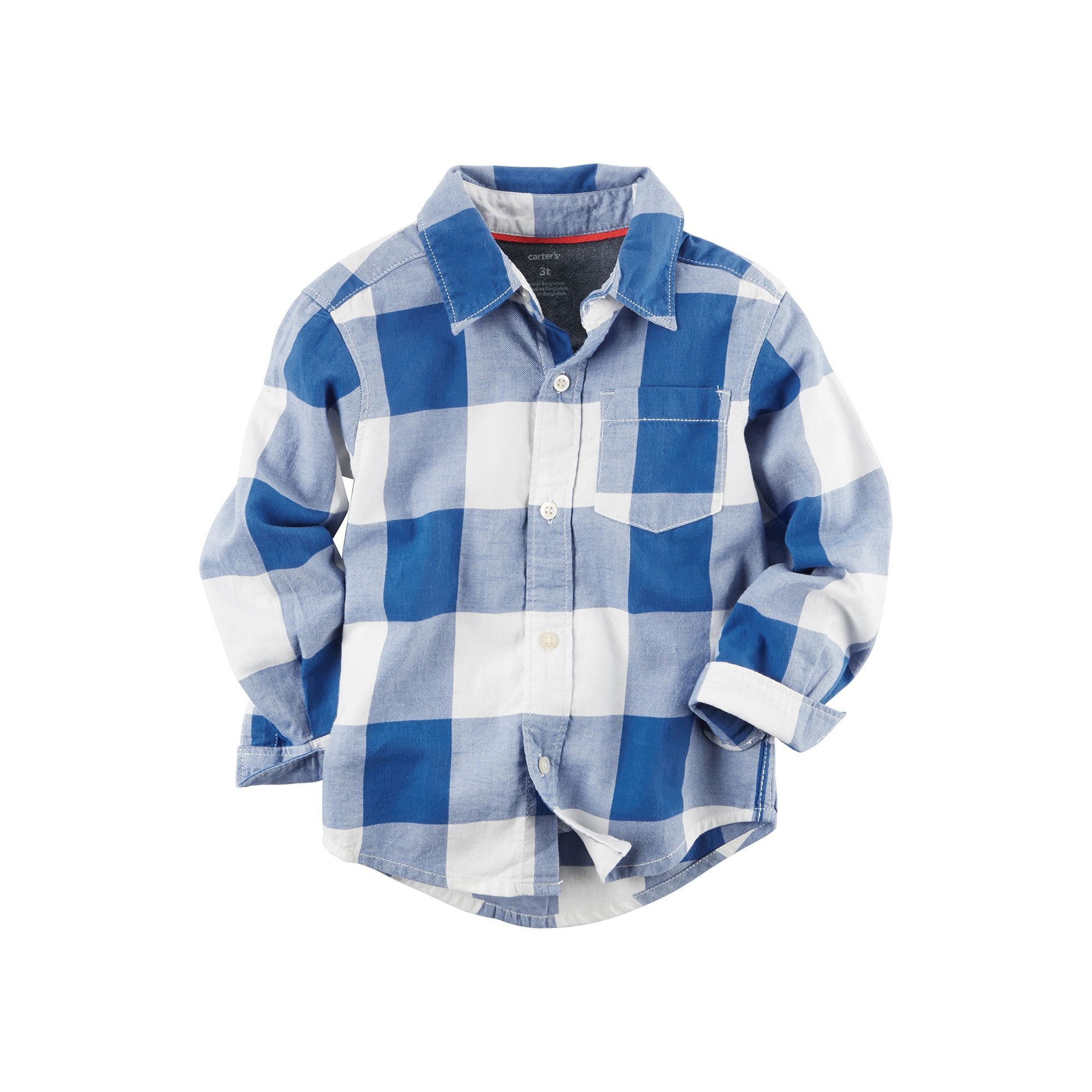 Flannel shirts at kohl's  Toddler Boy Carterus Twill Plaid ButtonDown Shirt Size T Red