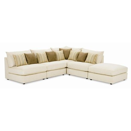 Rowe Tempo Five Piece Armless Sectional