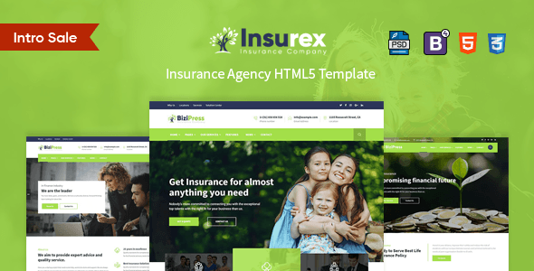 Insurex Insurance Agency Html5 Template Columns3 Bootstrap