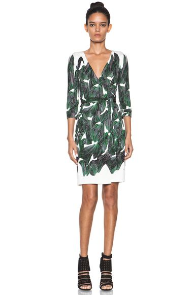 DIANE VON FURSTENBERG  New Julian Two Dress in Vine Placement