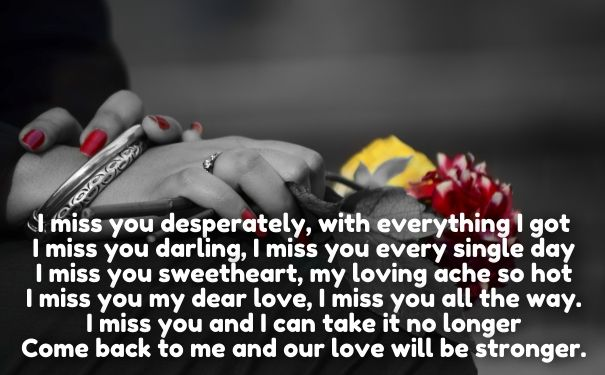 Long Distance I Miss U Poems For Her Cute Love Quotes For Her