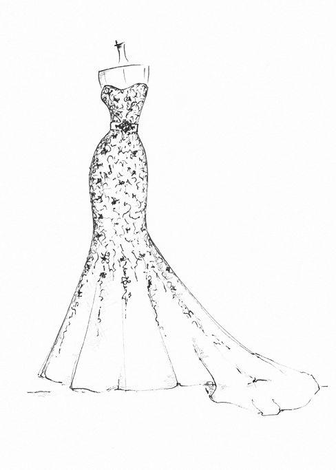 www.etsy.com/shop/dresssketch | wedding dress sketches | Pinterest ...